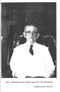 Rev. George M. Chadwick